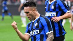 Lautaro Martínez celebra un gol reciente (AFP).