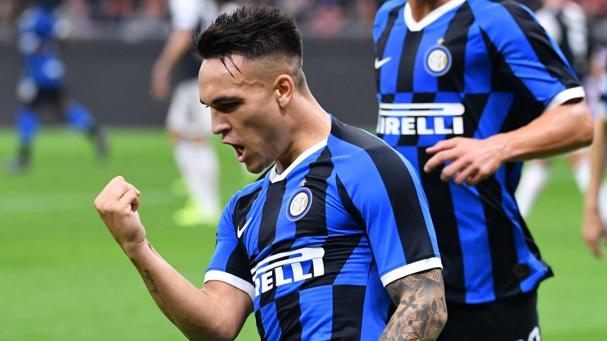 Lautaro Martínez celebra un gol con el Inter de Milán (AFP).