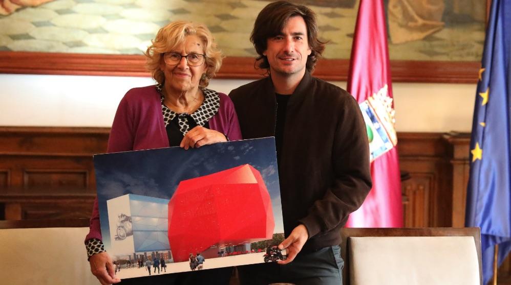 Manuela Carmena presentnado el Museo de Ángel Nieto hace un año. (Foto. Madrid)