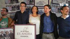 Sergio Pascual, Íñigo Errejón, Pablo Iglesias y José Manuel López. (Foto. Podemos)