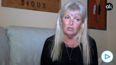 Carlota Sales en un momento de la entrevista con OKDIARIO