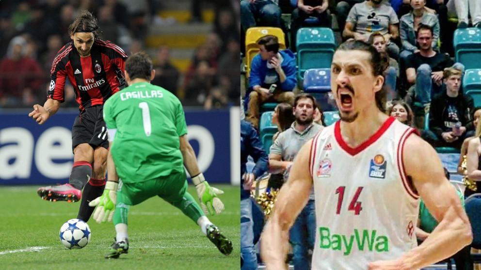 Ibrahimovic ante Iker Casillas y Nihad Djedovic.