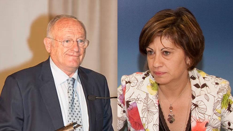 El presidente del grupo Rodman Polyships SA en España, Manuel Rodríguez Vázquez, y la ex ministra socialista Elena Espinosa.