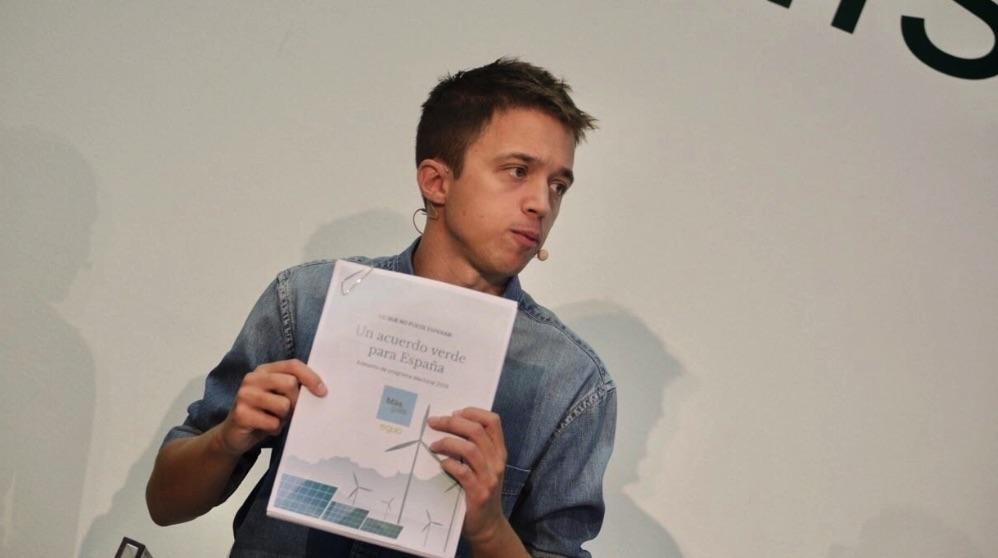 Íñigo Errejón presentando su programa electoral. (Foto. EP)