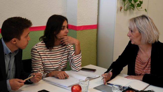 Íñigo Errejón, Rita Maestre y Carolina Bescansa, cúpula de Más País. (Foto: EFE)