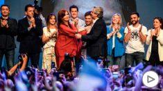 Alberto Fernandez junto a Cristina Fernandez de Kirchner