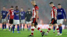 Los Southampton tras la goleada sufrida ante el Leicester. (Getty)
