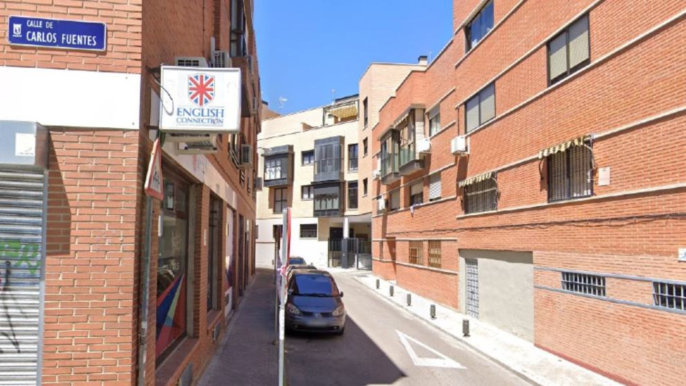 Lugar donde se observó la furgoneta siguiendo a dos niños en el madrileño barrio de Lucero