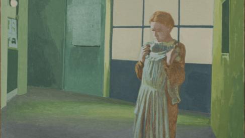 Detalle de Autorretrato con vestido blanco (Introspección), c. 1980. Colección particular