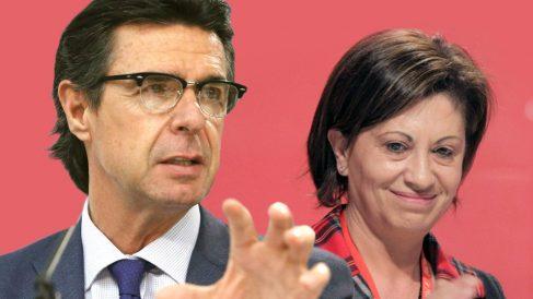 Los ex ministros José Manuel Soria (PP) y Elena Espinosa (PSOE).