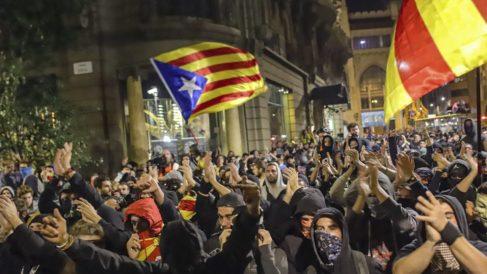 Manifestación independentista. Foto: EFE