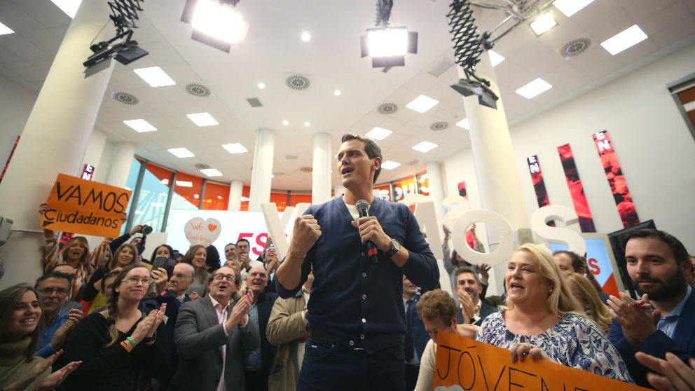 El presidente de Ciudadanos (Cs), Albert Rivera, participando en un acto de la formación naranja. (Foto: Efe)