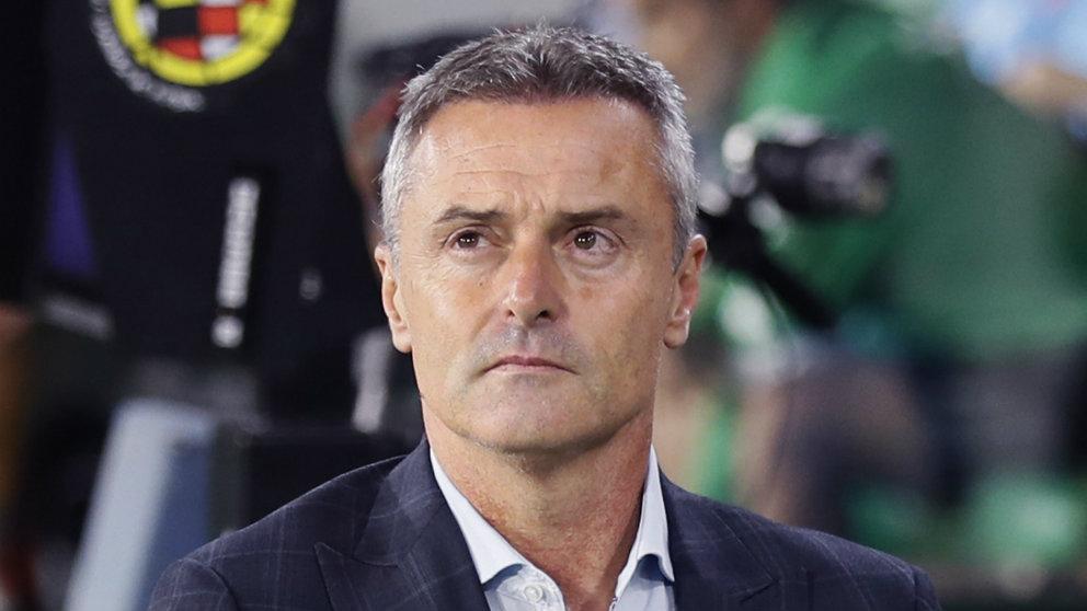 Fran Escribá, entrenador del Celta de Vigo, en el Benito Villamarín (EFE)
