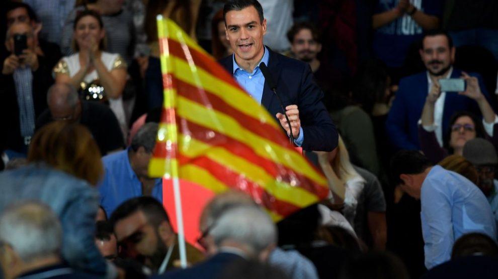 Pedro Sánchez en un acto en Barcelona @Getty