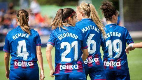 Jugadoras del Levante Femenino durante un partido (@LUDfemenino)