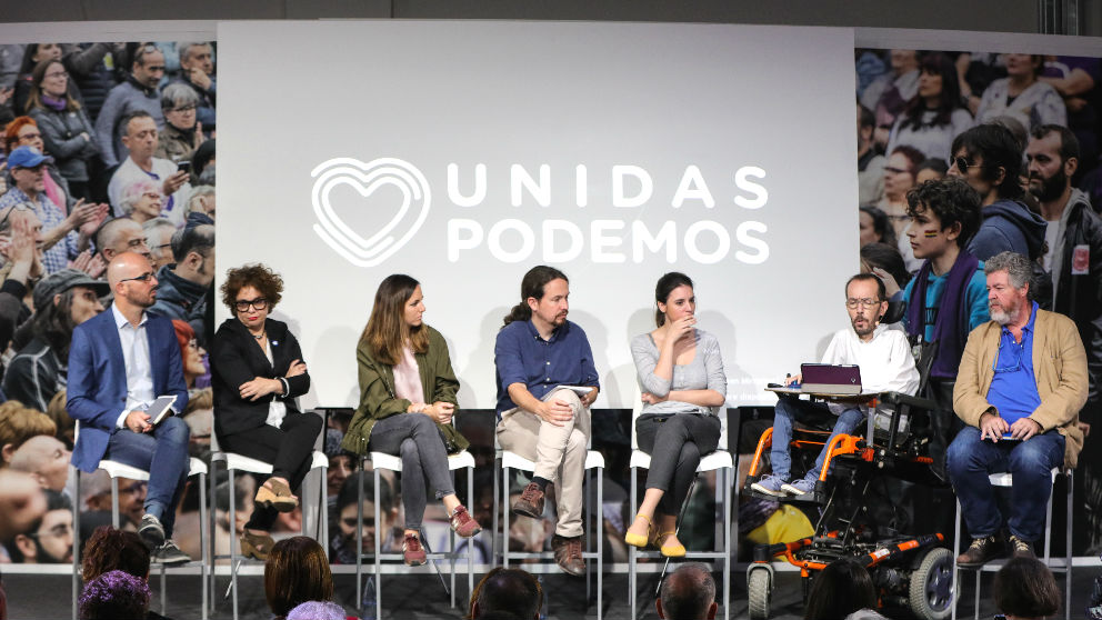 Presentación del programa electoral de Unidas Podemos para el 10N en Madrid. (Foto: Europa Press)