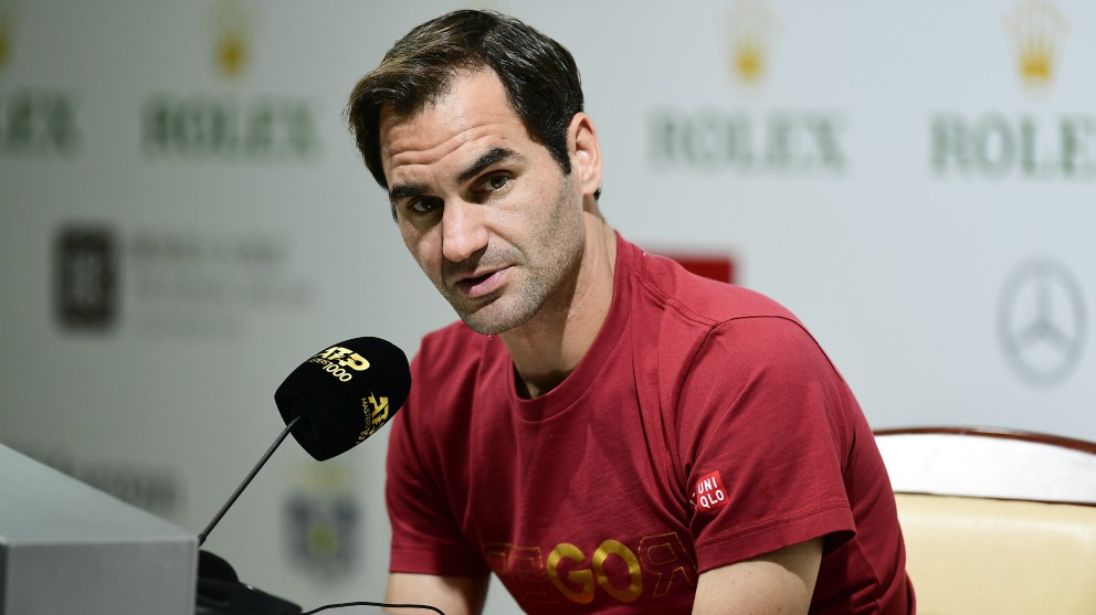 Roger Federer, en rueda de prensa. (Getty)