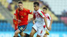 España durante un encuentro ante Tajikistán. (Sefutbol)