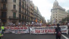 Manifestación de estudiantes en Barcelona. Foto: EP