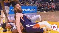 Curry se rompe la mano y estará un largo tiempo de baja.
