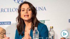 Inés Arrimadas en el debate de candidatos por Barcelona.