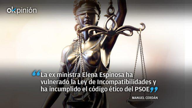 El documento que obliga a Espinosa a dimitir