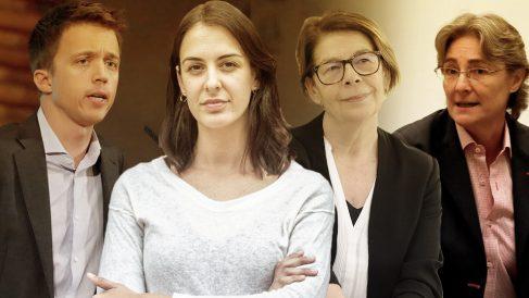 Íñigo Errejón, Rita Maestre, Inés Sabanés y Marta Higueras, todos ellos ahora en Más País.