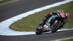 Fabio Quartararo, en el circuito de Malasia. (Getty)