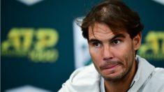 Rafa Nadal explica su abandono en París. (AFP)