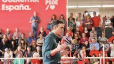 Pedro Sánchez, presidente del Gobierno en funciones, en un acto del PSOE.