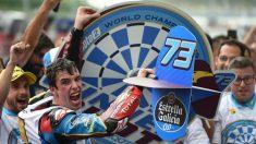 Álex Márquez celebra el título de Moto2. (AFP)