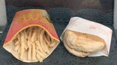 Así luce una hamburguesa de McDonalds 10 años después