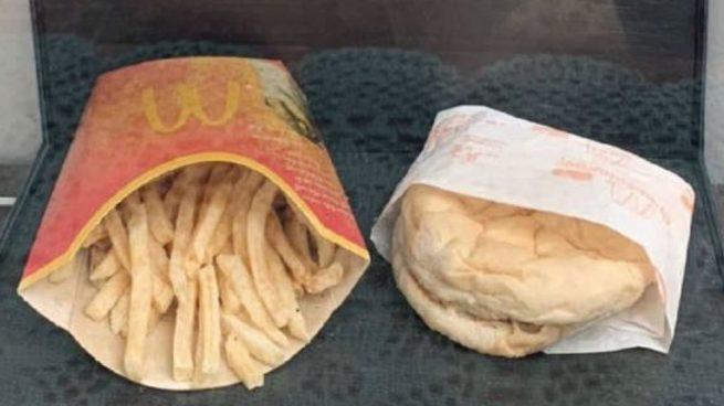 hamburguesa de McDonalds 10 años después
