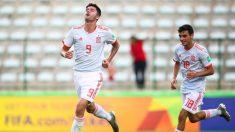 Escobar celebra un gol de España. (FIFA)