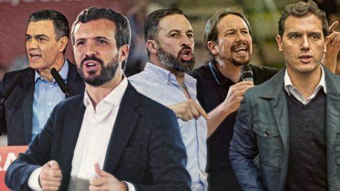 Los candidatos que participan en el debate de la Academia de TV.