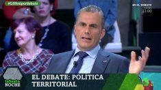 El secretario general de Vox, Javier Ortega-Smith, durante el debate celebrado este sábado en La Sexta.