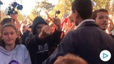 Miembros de los CDR insultan a dirigentes de Ciudadanos en Barcelona