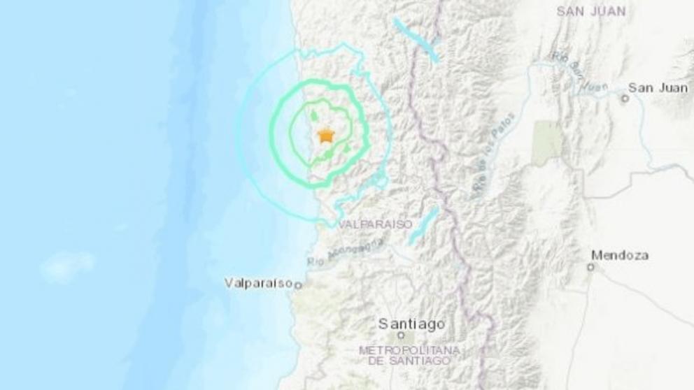 Terremoto en Chile @USGS
