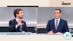Sánchez declina contestar en el debate si piensa pactar con los independentistas catalanes tras el 10-N.
