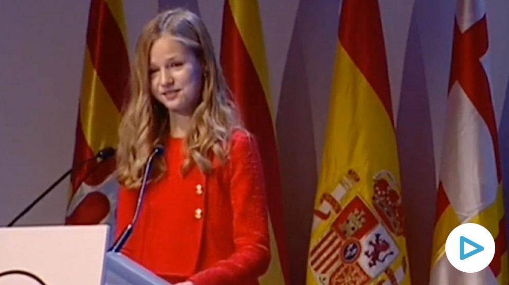 La princesa Leonor, en los Premios Princesa de Gerona.