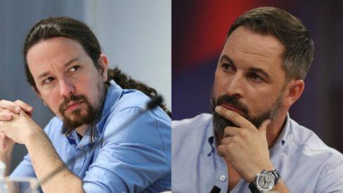 Pablo Iglesias y Santiago Abascal, líder de Podemos y VOX, respectivamente.