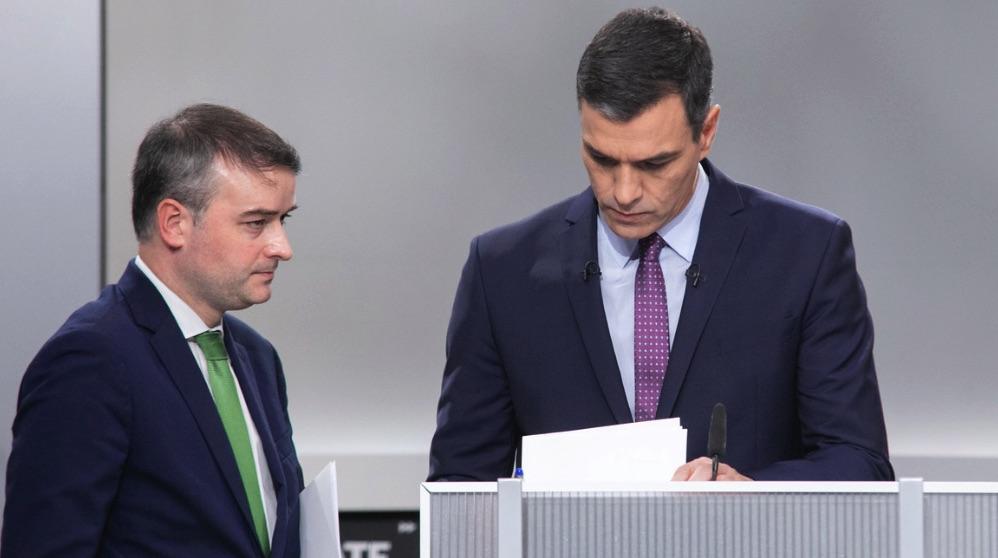 Pedro Sánchez junto a Iván Redondo.