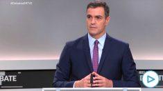 Pedro Sánchez en el debate electoral del 10-N.