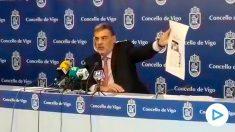 El portavoz del PP en el Ayuntamiento de Vigo, José Alfonso Marnotes