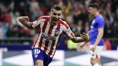 Ángel Correa celebra un gol con el Atlético de Madrid. (AFP)