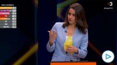 Inés Arrimadas durante el debate de TV3.