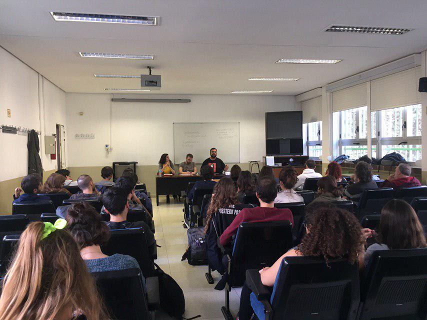 Aula de la Facultad de Filosofía y Letras de la UAM durante el acto.