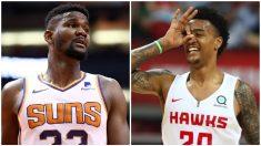 Ayton y Collins, los dos jugadores suspendidos por dopaje reciente en la NBA.