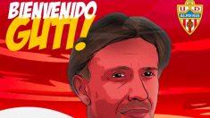 El Almería anuncia el fichaje de Guti como nuevo entrenador.