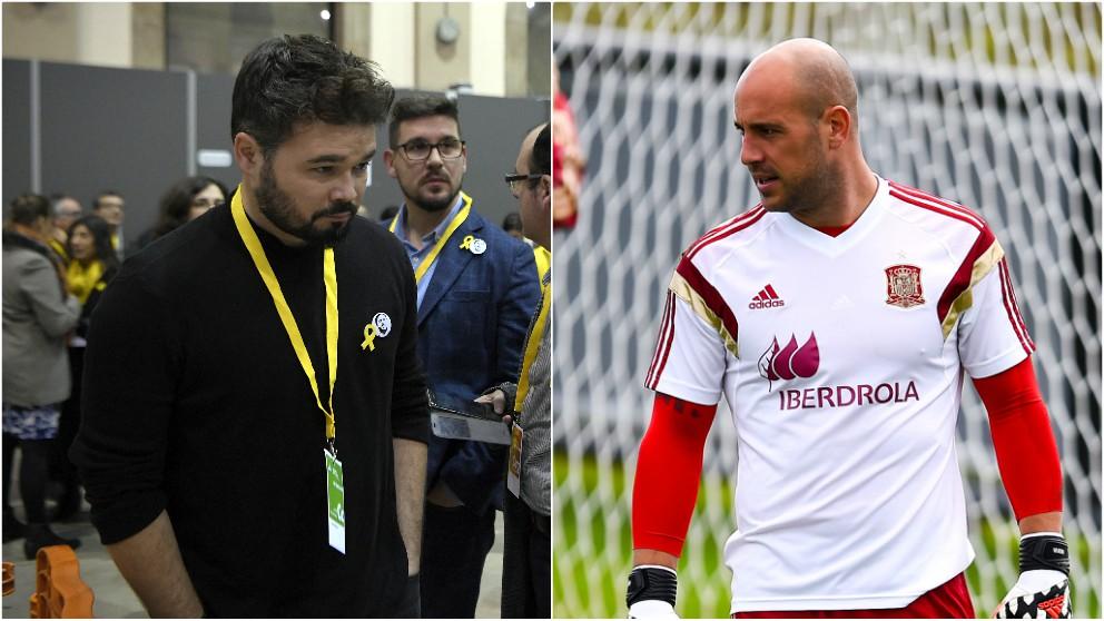 Gabriel Rufián y Pepe Reina.